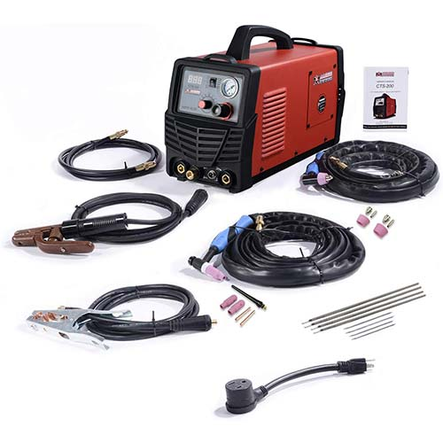 9. CTS-200, 50A Plasma Cutter, 200A TIG-Torch & Stick Arc Welder, 3-in-1 Combo Cutting & Welding Machine