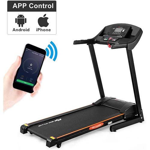 2. Goplus 2.5HP Electric Automatic Incline Treadmill