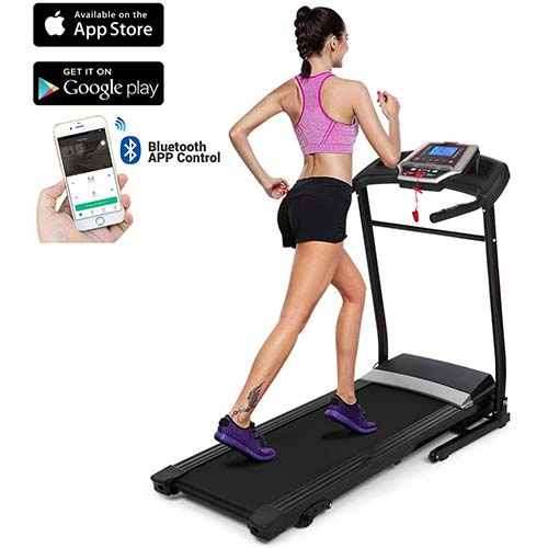 8. chiclik Folding Treadmill Manual Incline Running Machine