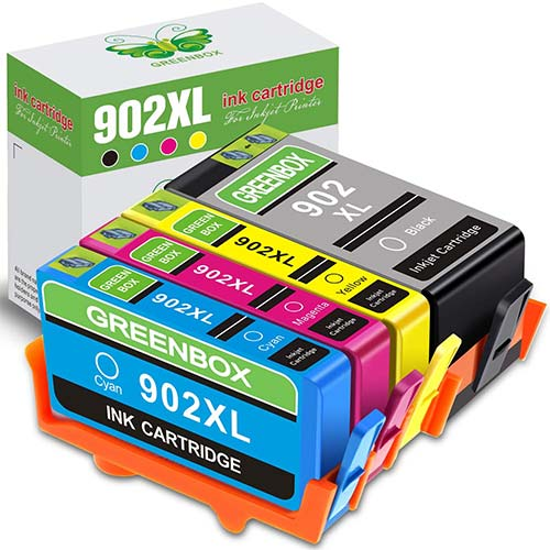10. GREENBOX Re-Manufactured HP 902 Ink Cartridges Replacement for HP