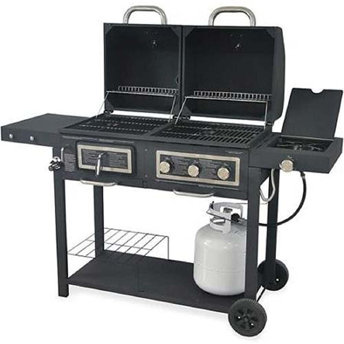 7. Durable Outdoor Barbeque & Burger Gas/charcoal Grill Combo