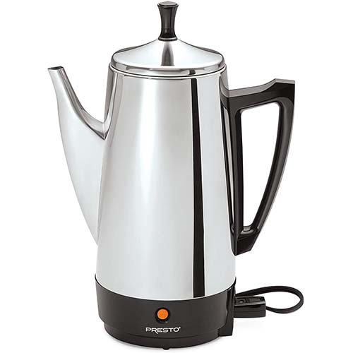 2. Presto 02811 12-Cup Stainless Steel Coffee Maker