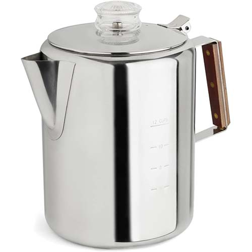 4. TOPS 55705 Rapid Brew Stainless Steel Stovetop Coffee Percolator