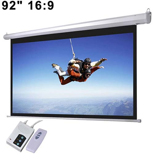 10. Elite Screens Spectrum Electric Motorized Projector Screen with Multi Aspect Ratio Function, Home Theater 8K/4K Ultra HD Ready Projection