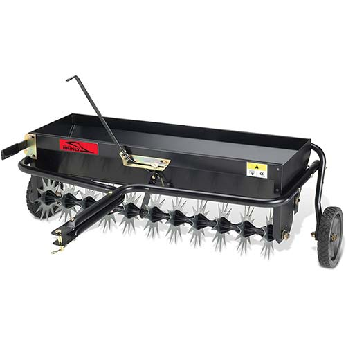 7. Brinly AS-40BH Tow Behind Combination Aerator Spreader, 40-Inch, Black