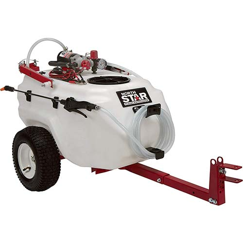 5. NorthStar Tow-Behind Trailer Boom Broadcast and Spot Sprayer - 21-Gallon Capacity, 2.2 GPM, 12 Volt DC