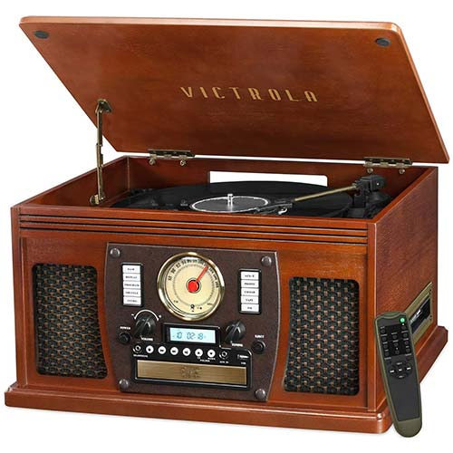 1. Victrola Navigator 8-in-1 Classic Bluetooth Record Player