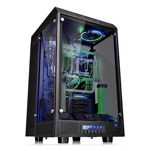 5. Thermaltake Tower 900 Black Edition Tempered Glass Fully Modular E-ATX Vertical Super Tower Computer Chassis CA-1H1-00F1WN-00