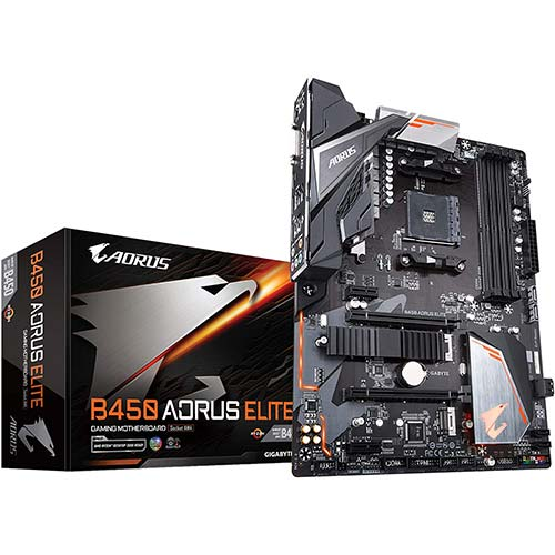 5. Gigabyte B450 AORUS ELITE (AMD Ryzen AM4/ M.2 Thermal Guard/Hmdi/DVI/USB 3.1/DDR4/ATX/Motherboard)
