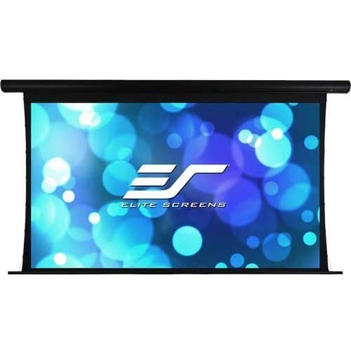 9. Elite Screens Yard Master Tension Series Projection Screen, 120-inch 16:9, Outdoor/Indoor Electric Motorized Front/Rear Wraith Veil Dual Projection Movie Screen
