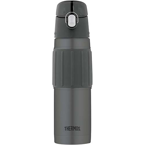 2. Thermos Vacuum Insulated 18 Ounce Stainless Steel Hydration Bottle, Charcoal