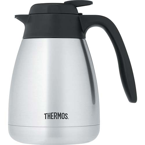 10. Thermos 34 Ounce Vacuum Insulated Stainless Steel Carafe
