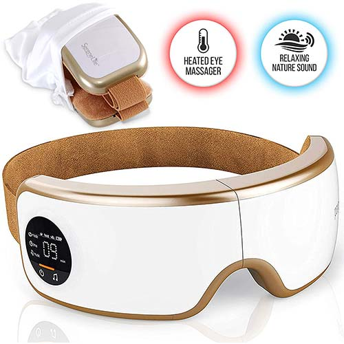 8. Stress Therapy Electric Eye Massager - Wireless Digital Mask Machine w/ Heat Compress, Built-in Battery