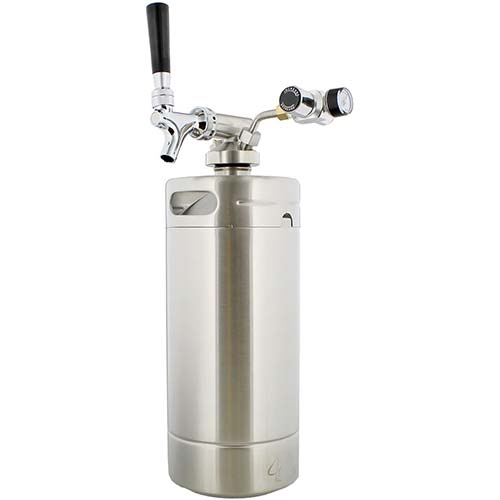 10. G Francis Keg with Keg Regulator and Beer Dispenser, 128 oz – Portable Keg Draft Beer Dispenser