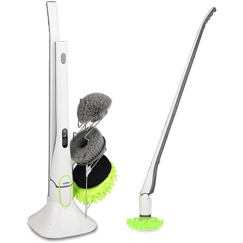 8. Spin Scrubber, ADPOW Upgraded Electric Spin Scrubber with LED Display, Cordless Power Household Extension Handle Shower Cleaner
