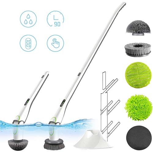 10. GOOD PAPA Electric Spin Scrubber, Rechargeable Battery Bathroom Scrubber