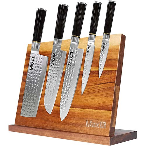 5. Max K Magnetic Knife Block without Knives - Chef Knife Stand - Magnetic Knife Blocks