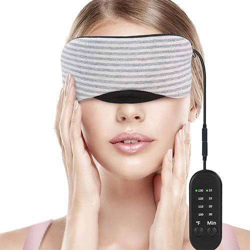 2. Heated Eye Mask, Esonmus USB Sleep Mask with Adjustable Temperature and Time Control, Warm and Cold Massage