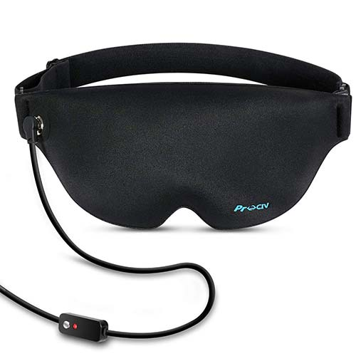 4. Graphene Heated Eye Mask for Dry Eyes, Far Infrared Warming Sleep Mask & Washable Electric heated Eye Compress Pad