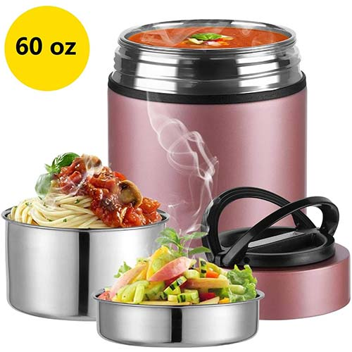 6. 2020 Upgraded Insulated Food Storage Container Thermos