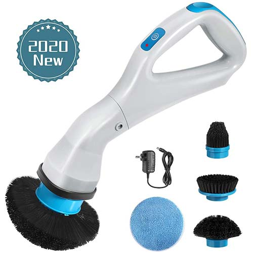4. Electric Spin Scrubber, 2020 New Handheld Cleaning Brush Multi-function Cordless Rechargeable 360-Degree Rotation