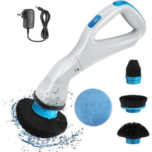 9. VINER Electric Spin Scrubber, Handheld Wireless High-Speed Spin Rechargeable Scrubber