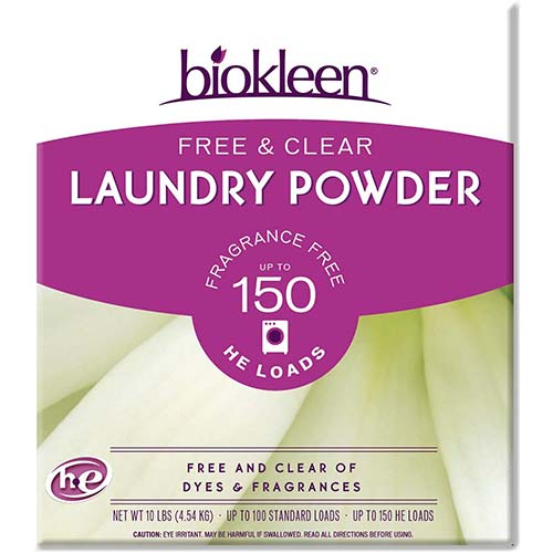 10. Biokleen Free & Clear Natural Laundry Detergent - 150 Loads - Powder, Concentrated, Eco-Friendly, Non-Toxic, Plant-Based