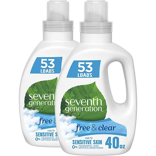 2. Seventh Generation Concentrated Laundry Detergent, Free & Clear Unscented