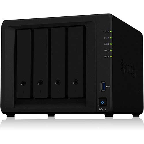 6. Synology 4 bay NAS DiskStation DS418 (Diskless)