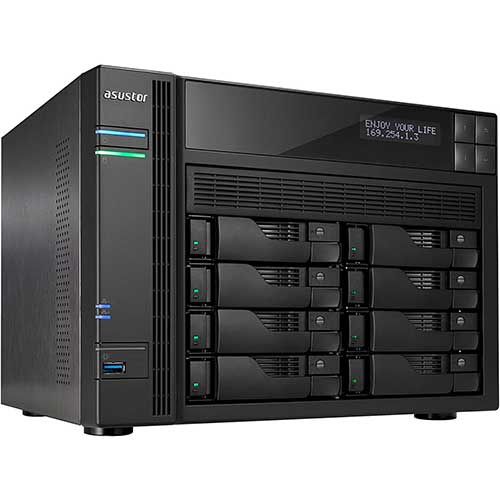 7. Asustor AS6208T | Network Attached Storage + Free exFAT License | 1.6GHz Quad-Core, 4GB RAM
