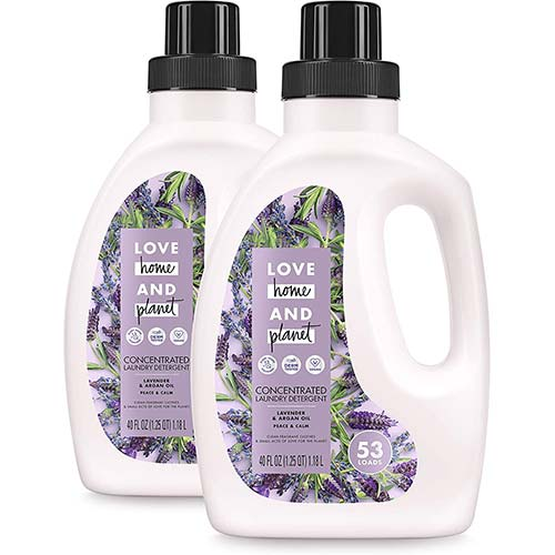 3. Love Home and Planet Concentrated Laundry Detergent Lavender &Argan Oil
