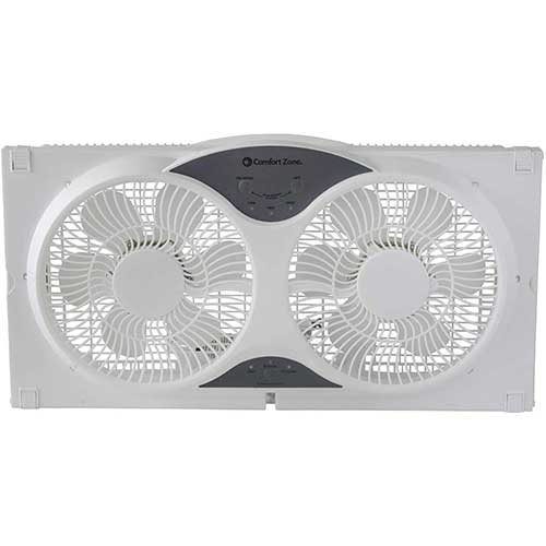 3. CCC Comfort Zone Twin Window Fan with Remote