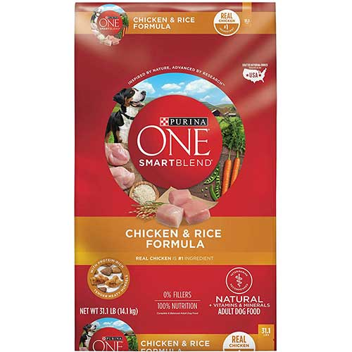 1. Purina ONE SmartBlend Natural Adult Dry Dog Food