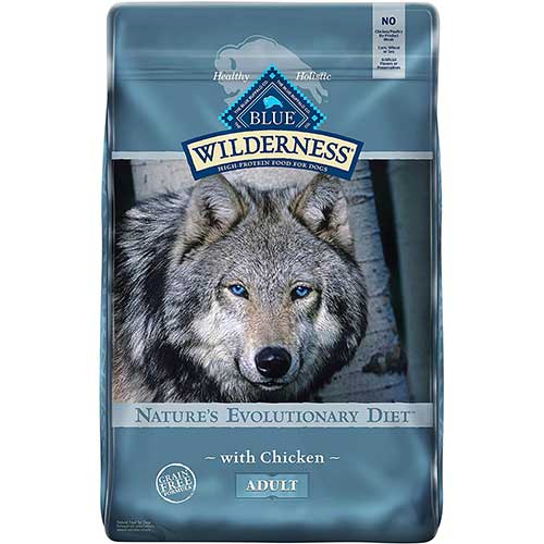 2. Blue Buffalo Wilderness High Protein, Natural Adult Dry Dog Food