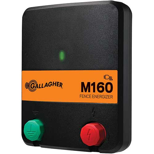 6. Gallagher M160 Electric Fence Charger | Powers Up to 30 Miles / 100 Acres of Clean Fence