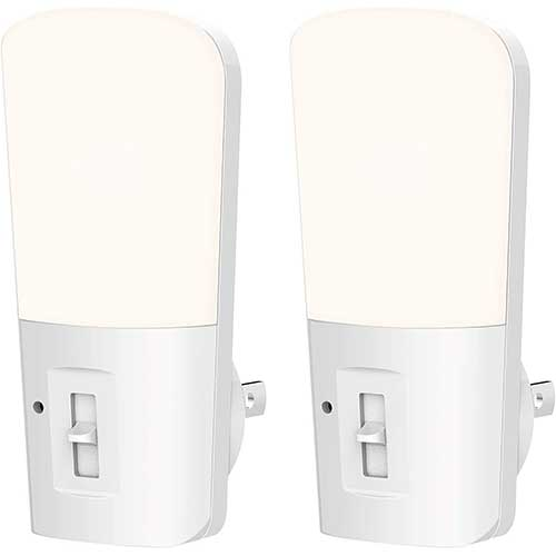 9. LOHAS Dimmable Night Light, Plug in LED Night Light Dusk to Dawn Light