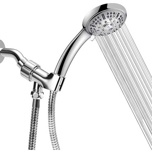 4. WASSA High Pressure Handheld Shower Head, 9 Spray Settings Hand Held Showerhead with 60 Inch Hose