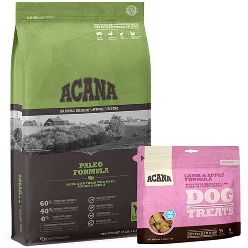 4. Acana Grain Free Adult Dog Food, High Protein, Made with Real Meat