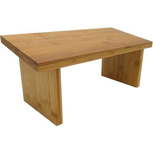 5. Bean Products Bamboo Meditation Benches – Original and Best Designs - Hinged Folding Legs or New Magnetic Attached Legs