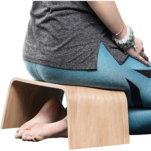 6. Valiai Strong Wooden Meditation Bench, Also Used for Tea Ceremony, Seiza,Yoga, Praying and Healthier Sitting