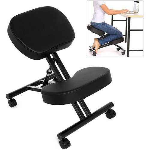 6. Ergonomic Kneeling Chair, Adjustable Stool for Home and Office - Improve Your Posture with an Angled Seat