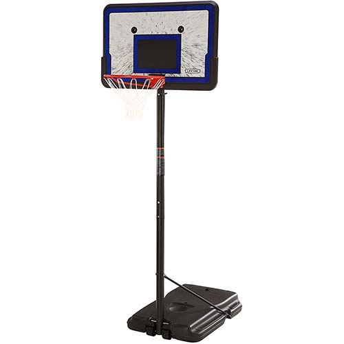 5. Lifetime Height Adjustable Portable Basketball System, 44 Inch Backboard