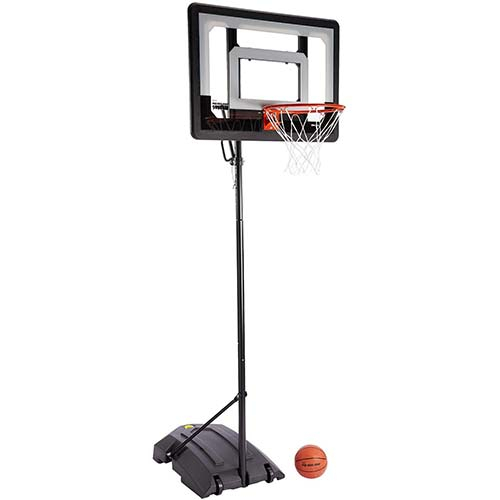 1. SKLZ Pro Mini Hoop Basketball System with Adjustable-Height Pole and 7-Inch Ball