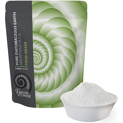 1. FOSSIL POWER Food Grade Diatomaceous Earth Powder - For Human & Pet Use - Effective Multipurpose Powder for Internal and External Organic Use or With Duster Applicator - 3 LB