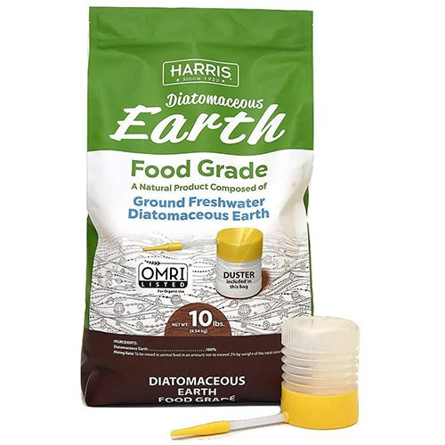 4. HARRIS Diatomaceous Earth Food Grade, 10lb with Powder Duster Included in The Bag