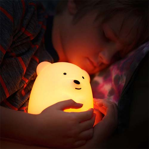 Nightlights for Toddler Afraid of the Dark 3. VAVA Home VA-CL006 Night Lights for Kids with Stable Charging Pad, ABS+PC Bedside Lamp