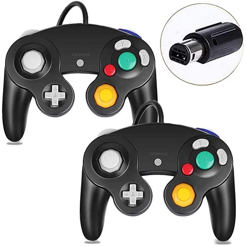 3. Gamecube Controller, Classic Wired Controller for Wii Nintendo Gamecube (Black-2Pack)