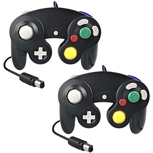 Best Third Party Gamecube Controllers 2. CFIKTE Gamecube Controller, Classic Wired Controllers Compatible with Wii Nintendo Gamecube(Black) (2 Pack)