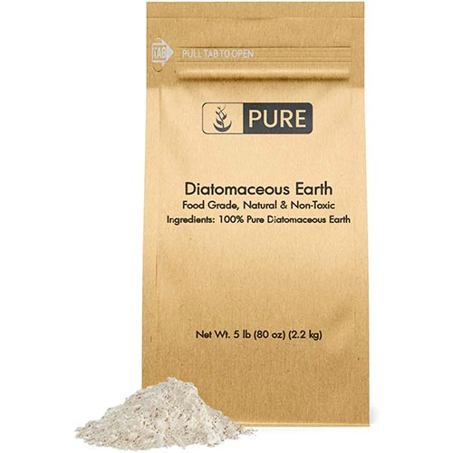 7. Pure Organic Ingredients Diatomaceous Earth (5 lb) Natural Multipurpose Household Essential, Made in The USA, Eco-Friendly Packaging