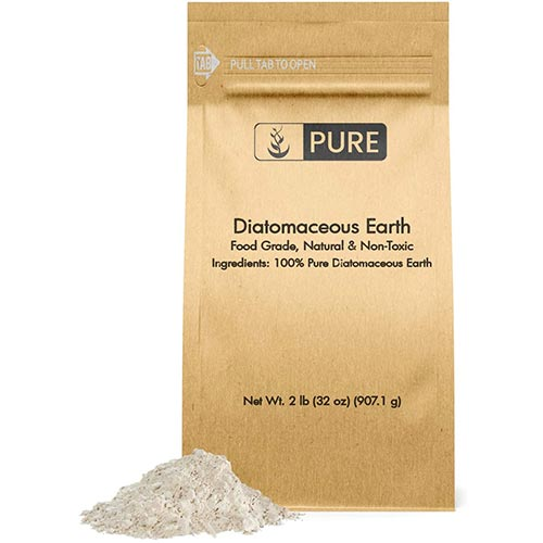 3. Pure Natural Diatomaceous Earth, 2 lb, Made in USA, Freshwater DE, & Purity